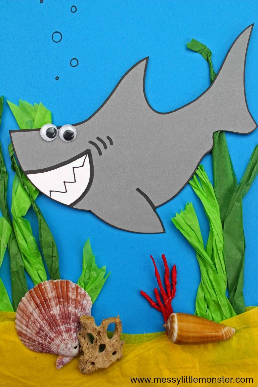 easy shark craft under the sea craft