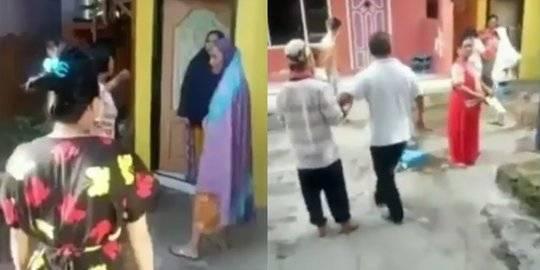 Viral Emak-Emak Ribut Sampai Adu Jotos, 1 RT Heboh Mirip Tawuran Antar Kampung