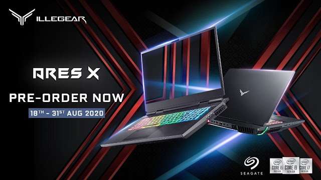 ILLEGEAR Launches Its Extreme Desktop Replacement Laptop - Ares X with Modular CPU and GPU, Pre-Order Is Available