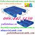 Pallet nhựa 1200x1000x150mm màu xanh dương