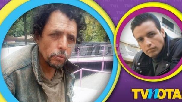 El supuesto Rafael Rojas indigente. FOTO: TV Notas