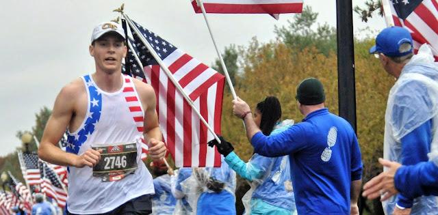 Air Force 2nd Lt. Zachary Matthews ran in the 2019 Marine Corps Marathon to help qualify for the Boston Marathon.
