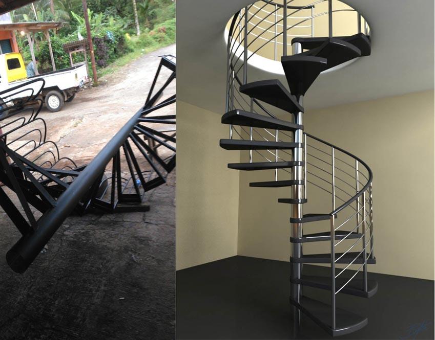 pilih kanopi besi atau baja ringan spesialis pembuatan tangga putar | barokah mandiri teknik ...