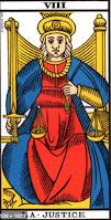 Arcane VIII - La justice - Tarot de Marseille