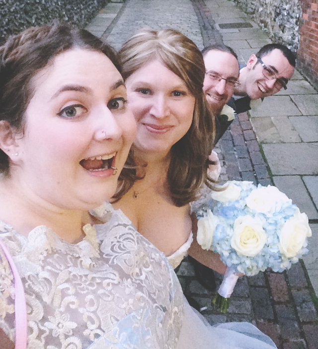 Wedding party selfie