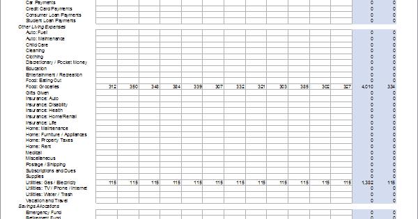 monthly cash flow worksheet