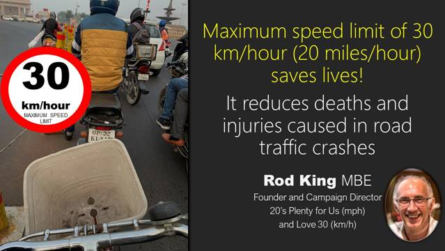 Maximum travel speed of 30 km/hour: Are we walking-the-talk on road safety? Bobby Ramakant – CNS