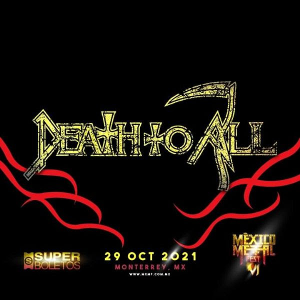 """DEATH TO ALL"": la alineación post Schuldiner de la banda Death en el México Metal Fest"