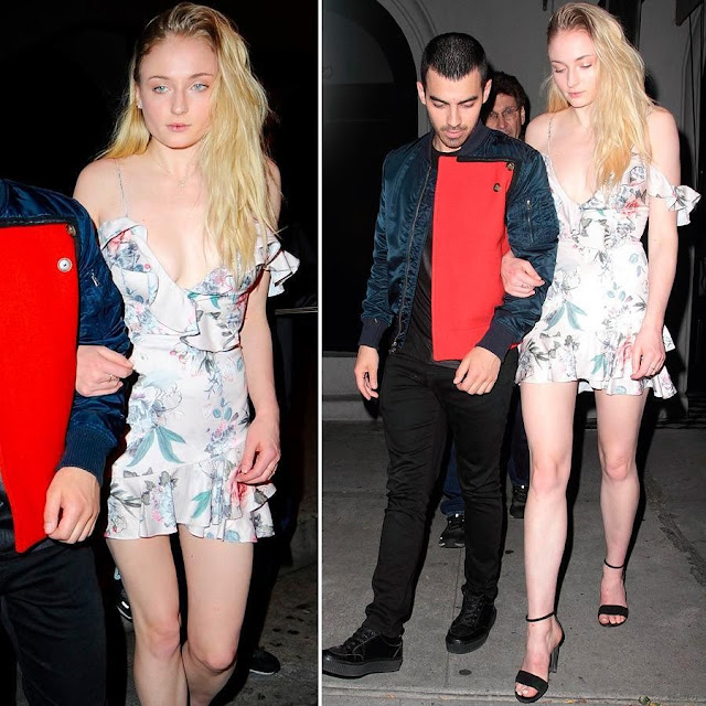 Sophie Turner - and Joe Jonas at Craig's Restaurant in West Hollywood