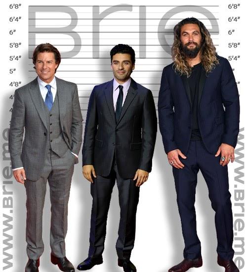 Oscar Isaac height comparison with Tom Cruise, and Jason Momoa