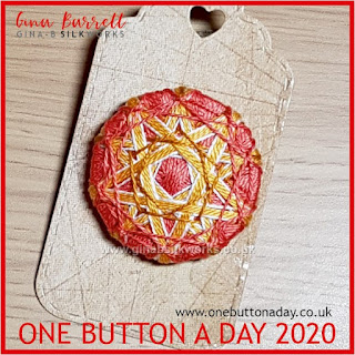 One Button a Day 2020 by Gina Barrett - Day 175 : Scorchio!