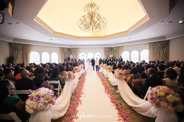 Wedding Ceremony  - Orlando - Real Wedding - Joie de Vie Wedding - Rosen Shingle Creek - Kirby - Purple - Atmospheres Floral