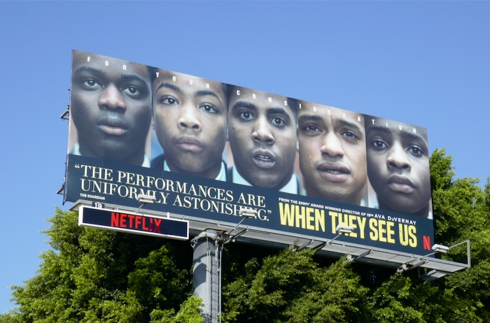 When They See Us consideration billboard