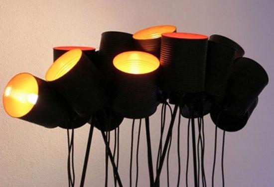 lampu unik dari kaleng bekas