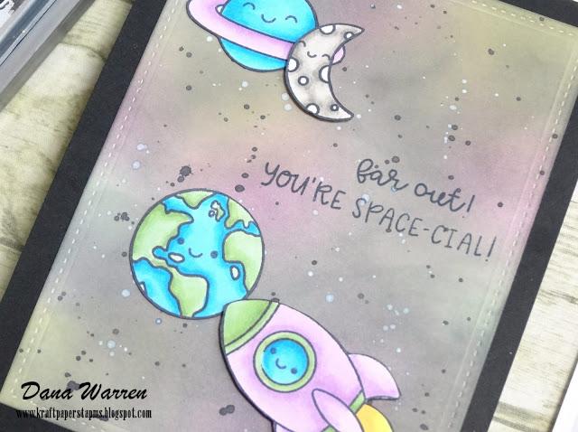 Dana Warren - Kraft Paper Stamps - Doodlebug Designs Stamps Space