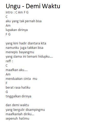 Download Lagu Ungu Maafkan Aku Menduakan Cintamu : download, maafkan, menduakan, cintamu, Chord, Waktu