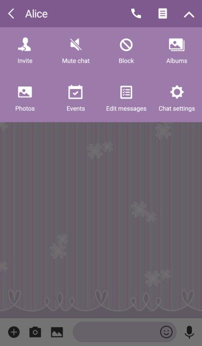 多色條紋/紫色 02r
