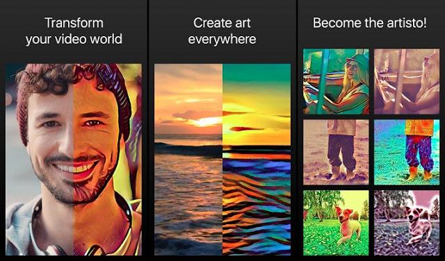 تطبيق Artisto للتلاعب بالفيديو واضافة التأثيرات عليه - Download Artisto App