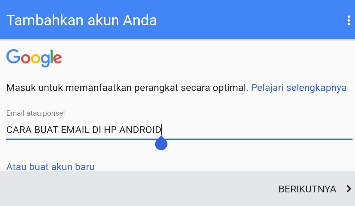Trik Cepat Cara Membuat Email Di Hp Android