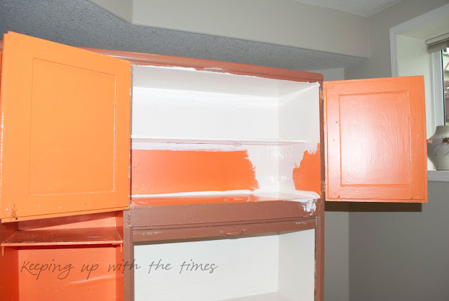A Summery New Look For My Hoosier Cabinet Keeping With