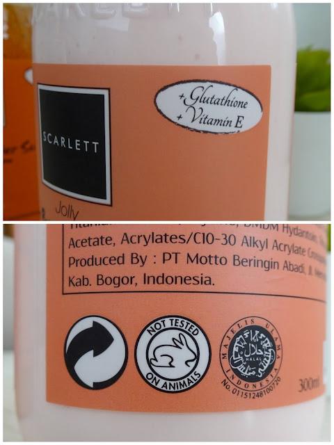 Ingredients and BPOM Scarlett Whitening