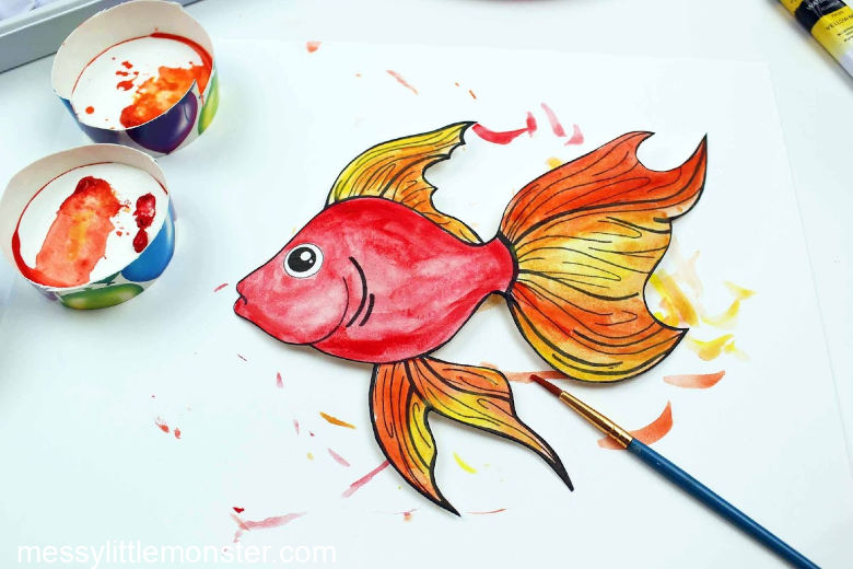 watercolour fish craft