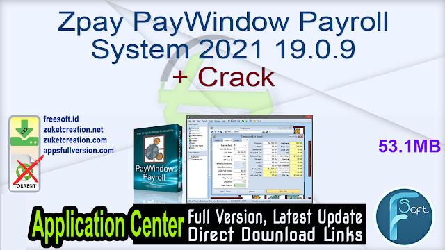 Zpay PayWindow Payroll System 2021 19.0.9 + Crack