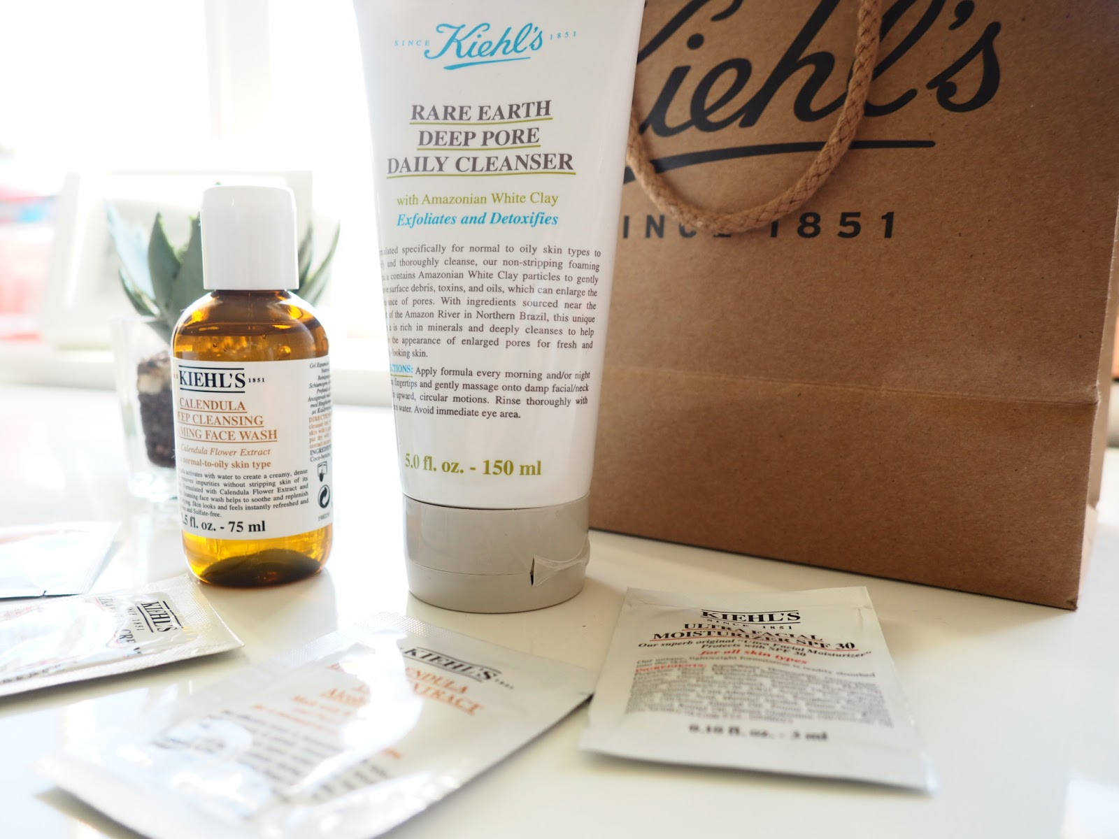 Kiehl's Calendula Deep Cleansing Face Wash and Rare Earth Deep Pore Daily Cleanser Review