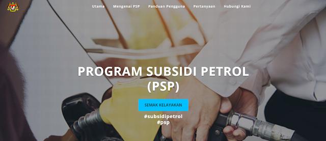 Cara Semak Kelayakan Program Subsidi Petrol (PSP)