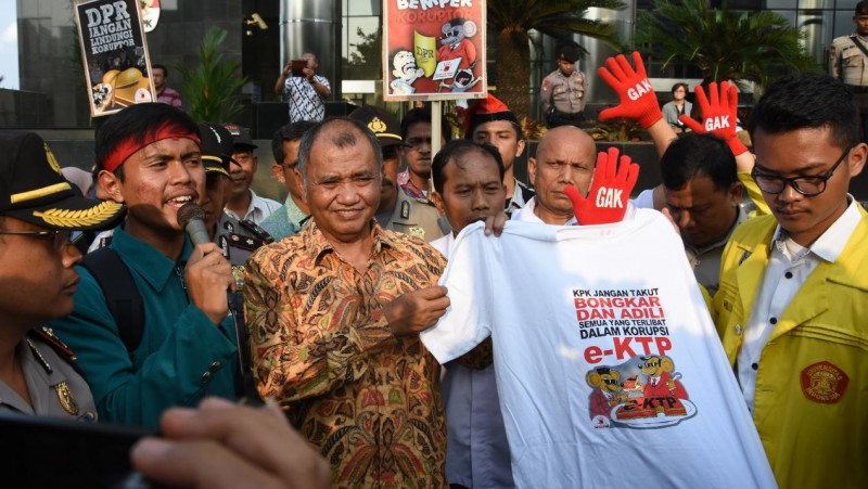 Ketua KPK Agus Rahardjo menerima dukungan pembongkaran kasus e-KTP