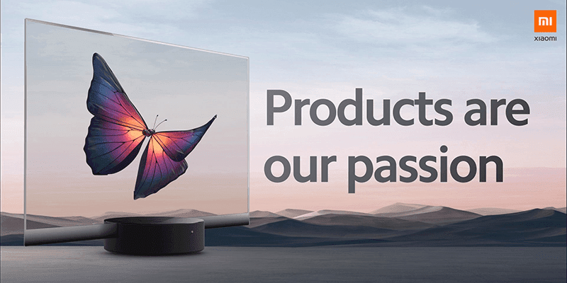 Stunning: Xiaomi just released the world's first mass-produced transparent TV!