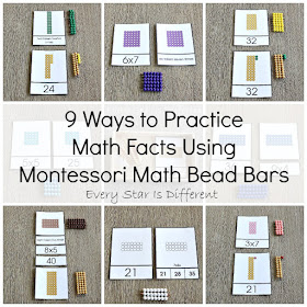 9 Ways to Practice Multiplication Facts Using Montessori Math Bead Bars