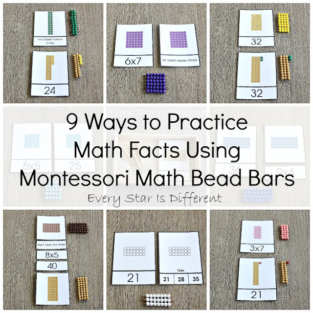 9 Ways to Practice Multiplication Facts Using Montessori Math Bead Bars