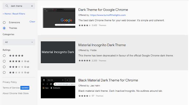 google chrome dark theme को कैसे Use करें ?