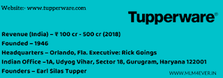tupperware india, tupperware business plan