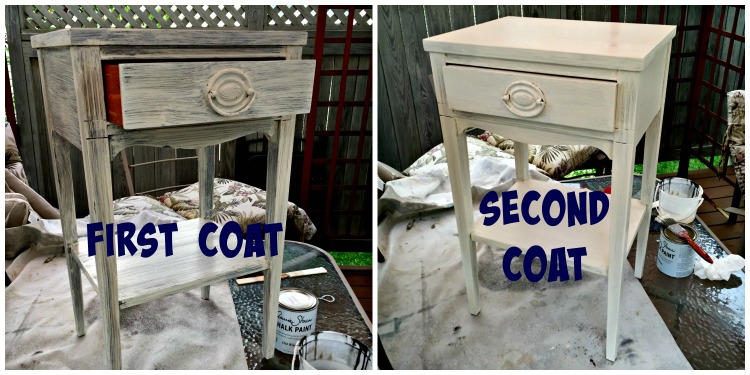Difference between the first and second coat of paint