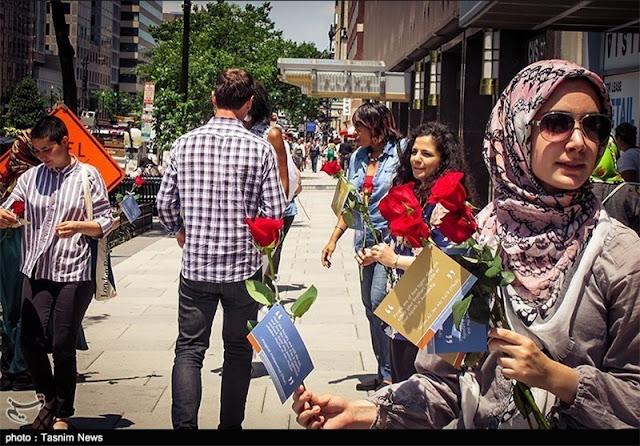 kampanye islam damai washington mawar
