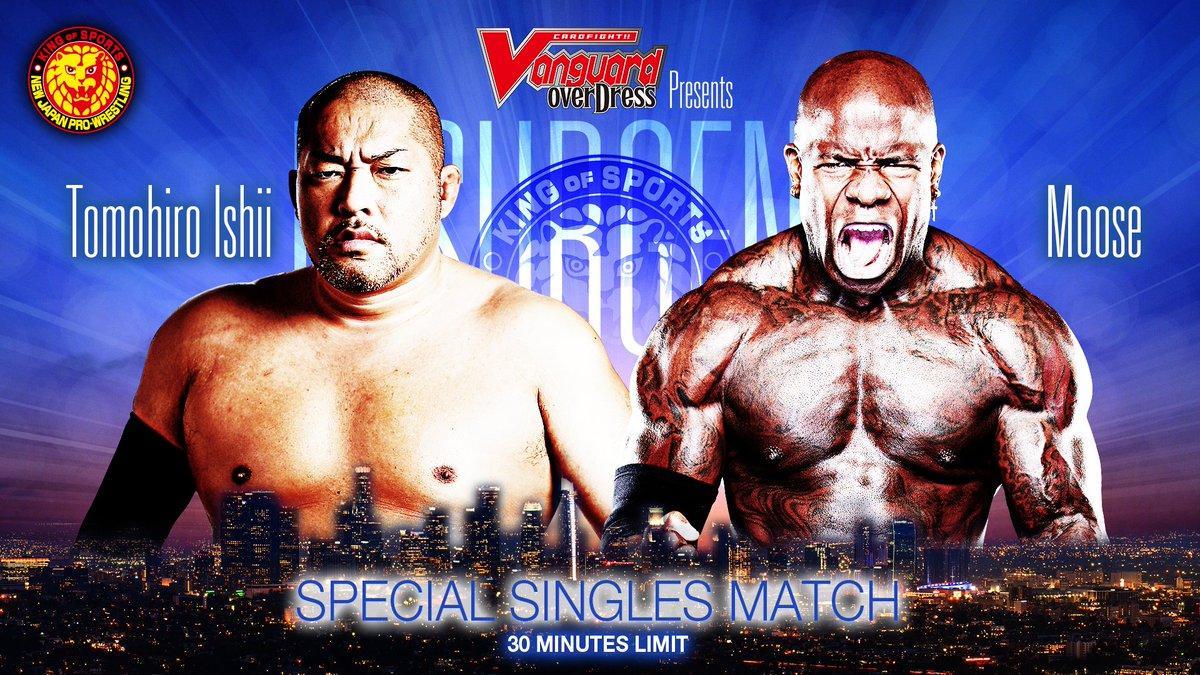 Moose vs. Tomohiro Ishii acontecerá no NJPW Resurgence