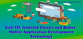 Android Classes and Basics - Mobile Application Development Technology