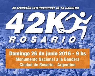 Maratón de la bandera en Rosario (Santa Fe, ARG, 42k, 26/jun/2016)