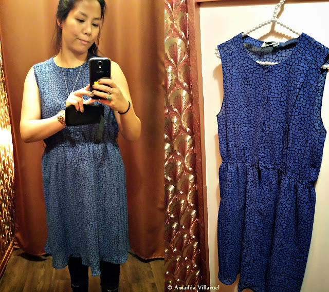 Lovely blue vintage dress from Froken Dianas salonger in Oslo
