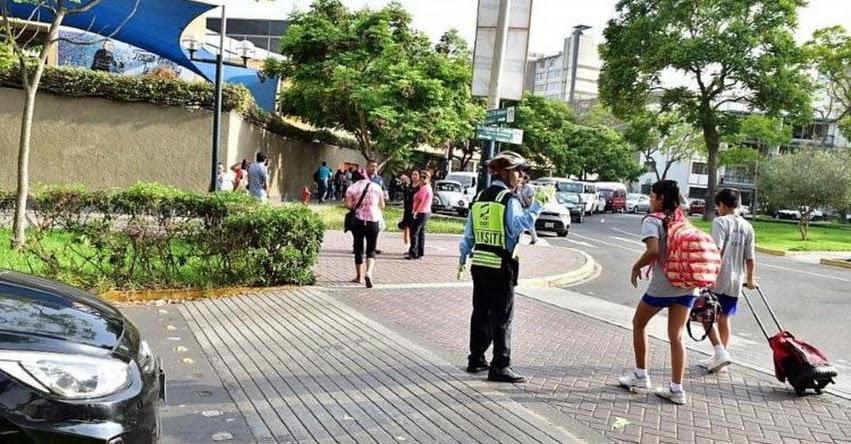 San Isidro pone en marcha plan vial y de seguridad ante inicio de clases