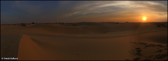 Sunset at Thar Desert