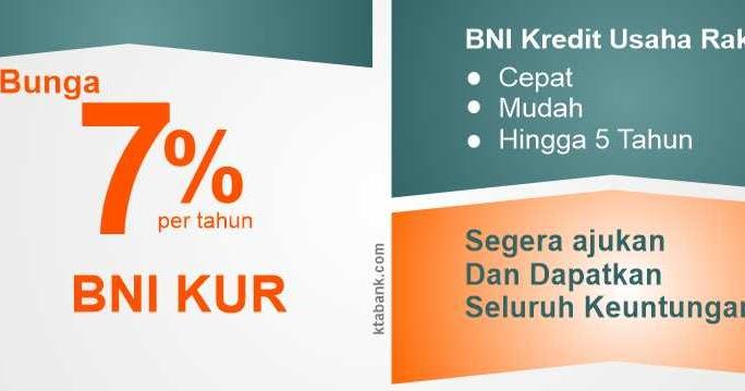 Tabel Angsuran KUR BNI Terbaru Mei 2019 - KTA BANK 2020