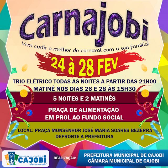Carnaval em Cajobi começa nesta sexta-feira (24)