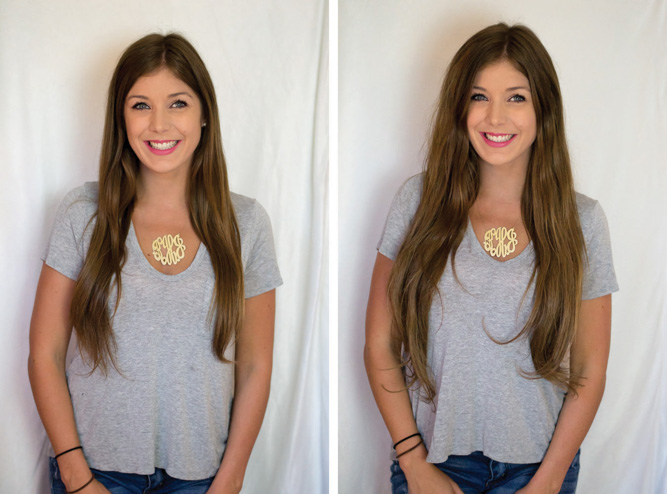 Hair Extensions Before & After - Chasing Cinderella