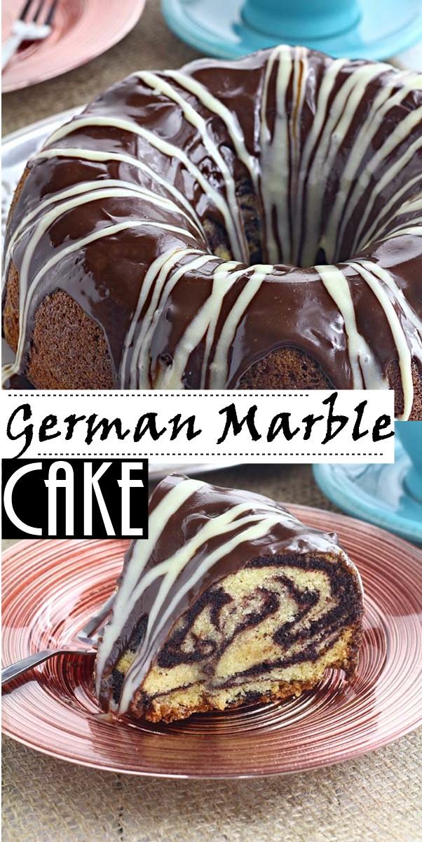 German Marble Cake Recipe #Cakerecipes