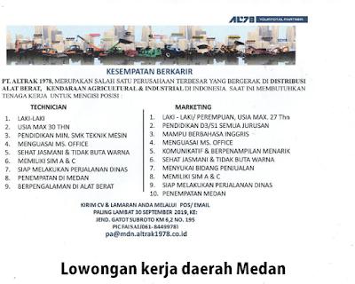 Lowongan Kerja S1 Semua Jurusan Medan September 2019