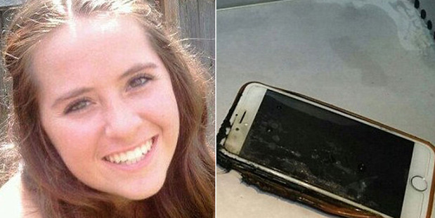 'I saw my life flash before my eyes' - Woman's iPhone catches fire mid-flight