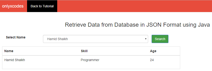 Display Data in Table Format | how to retrieve data from database